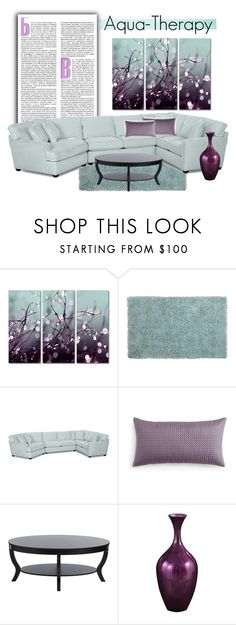 """""""Aqua-Therapy"""" by trishica ❤ liked on Polyvore featuring interior, interiors, interior design, home, home decor, interior decorating, Trademark Fine Art, Pier 1 Imports, Oake and I Love Living"""