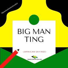 "Jamaican sayings... ""big man ting""... 🇯🇲 . . . . . . #jamaicalandwelove #jamaicanice #jamaicansayings Big Men, Atari Logo, Jamaica, Sayings, Logos, Negril Jamaica, Lyrics, Logo, Quotations"