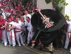Obby Oss celebration at Padstow  Best day by the sea :) x