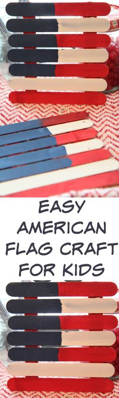 Easy American Flag Art Craft for Kids :: DIY Project Idea for the of July - Show your patriotic decor! Fun Crafts To Do, Easy Diy Crafts, Crafts For Kids, Arts And Crafts, Diy Projects For Kids, Craft Activities For Kids, Diy For Kids, Learning Activities, Art Projects