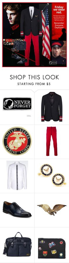 """military influence"" by halebugg ❤ liked on Polyvore featuring Chanel, Gucci, Dsquared2, Armani Collezioni, Cufflinks, Inc., Kenneth Cole, Ralph Lauren, Alexander McQueen, men's fashion and menswear"