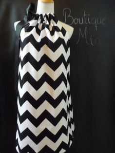 Pillowcase DRESS or TOP  Riley Blake  Black and White