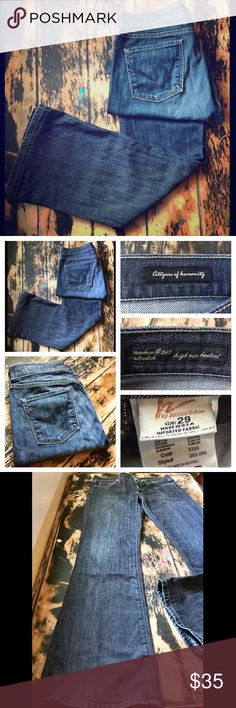 """Citizens of Humanity Bootcut Denim A great pair of jeans by Citizens of humanity. Preloved but in great condition! Inseam is 31"""" long. The style is Amber #263 stretch; high rise bootcut. Size 29. These are a great wash! Citizens of Humanity Jeans"""