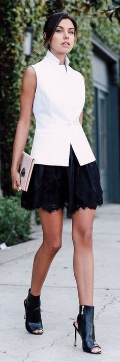 @roressclothes clothing ideas #women fashion Style Classic Black Lace Skirt: