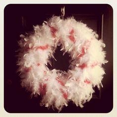 fun peppermint wreath