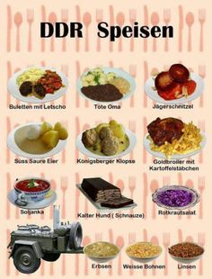 DDR foods - typical dishes from historical East Germany - Pinmodealle Potato Dishes, Potato Recipes, Tote Oma, East Germany, German Language, International Recipes, Cravings, Food And Drink, Easy Meals