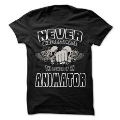 Never Underestimate The Power Of Animator T Shirts, Hoodie. Shopping Online Now…