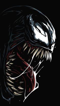 Venom Comics, Marvel Venom, Marvel Art, Marvel Heroes, Mcu Marvel, Watercolor Wallpaper Iphone, Iphone Wallpaper Glitter, Hd Wallpaper, Amoled Wallpapers