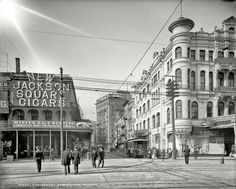 """""""Carondelet Street, New Orleans."""" Shorpy Historical Photo Archive :: A Streetcar Named Henry: 1905"""