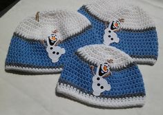 Frozen Inspired Olaf Handmade Crochet Hat by KnotJustCrochetHere