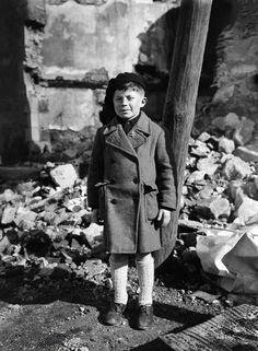 Roger Godfrin, only surviving child of the Oradour-sur-Glane massacre of June 10th, 1944; photo probably taken in 1945