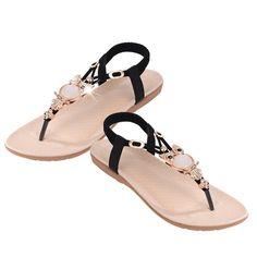 Schwarz Sommer Sandalen Mit EULE
