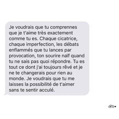 French Poems, French Quotes, Sad Love, Love You, Cute Text Messages, Bff, French Expressions, Cute Texts, Love Phrases