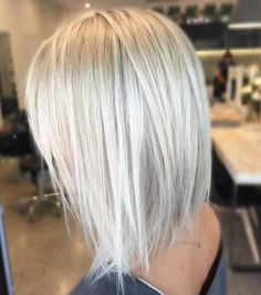 "244 Likes, 12 Comments - Kaitlin Jade - Hair & Harlow (@hairbykaitlinjade) on Instagram: ""Icy blonde with a textured lob ❤️ #blonde #hairenvy #lob #hairideas #hairinspiration #microfoils…"""