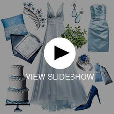 winter wedding color scheme blue