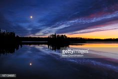 View top-quality stock photos of Moonrise Over Longbow Lake Kenora Ontario Canada. Find premium, high-resolution stock photography at Getty Images. Longbow, Wilderness, Ontario, Canada, Stock Photos, Sunset, Photography, Outdoor, Image