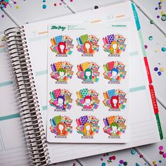 Introducing: Lillie Henry's NEW FUN-ctional Planner Stickers!  If you're like me, you love using cute, colorful stickers to decorate your planner. And, if you're like me, you not only love stickers, but also cute & adorable sticky notes! AND, if you're like me, you not only decorate