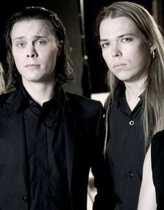 Ville Valo and Eicca Toppinen His Infernal Majesty and Apocalyptica, both from Finald (makes me want to move)
