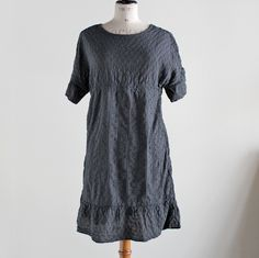 NOMA T.D.- PATCH WORK DRESS (CHARCOAL)