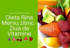 Dieta Rina Meniu zilnic – Ziua de Vitamine Atkins, Rina Diet, Healthy Life, Healthy Eating, Diet Recipes, Healthy Recipes, Fruit Salad, The Secret, The Cure