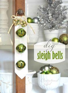 DIY sleigh bells -- cute and simple
