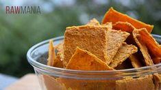 Sýrovo-paprikové krekry Raw Food Recipes, Snack Recipes, Snacks, Paleo, Keto, Crackers, Chips, Appetizers, Low Carb