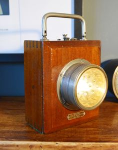 rare vintage 1920-30's ever ready inspection / watchmans signal lamp  rewired with 9v battery pack