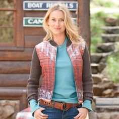 """RETRO TOWN CARDIGAN--Vintage Nordic inspiration in a 2x2 rib knit with silk printed front that's totally out of the ordinary. Cotton sleeves and back, polyester fill. Dry clean. Imported. Sizes XS (2), S (4 to 6), M (8 to 10), L (12 to 14), XL (16). Front approx. 21-1/2""""L"""