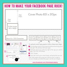 Facebook Cover Photo size and profile image size. #Facebook #RedesSociales