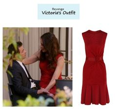 "On the blog: Victoria Grayson's (Madeleine Stowe) red flared sheath dress | Revenge – ""Revolution"" (Ep. 320) #tvstyle #tvfashion #outfits #fashion"