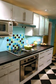 aqua kitchen ideas