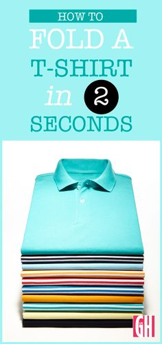 Try this clever hack showing you how to fold a T-shirt perfectly in two seconds flat.