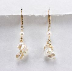 Keshi And Petal Pearl Earrings Beach Wedding Jewerly Beth Devine Designs Jewelry