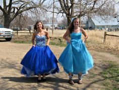 Best friends-ready for prom.