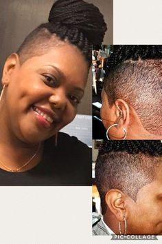 Crochet braids with shaved sides curls 65 Ideas Protective style braids # Box Braids Hairstyles For Black Women, Shaved Side Hairstyles, African Braids Hairstyles, Undercut Hairstyles, Haircuts, Natural Hair Cuts, Natural Hair Styles, Short Hair Styles, Crochet Braids