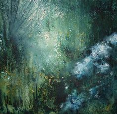 Stewart Edmondson  'Cow Parsley on the edge of the Wildwood' Acrylic on Paper 63 x 65 cm