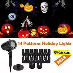 Halloween Christmas LED Projector Light Decorations 14 Slides Multi LED Waterproof Projection Lights LampHalloween Christmas Decoration Outdoor IndoorHolidayPartyYardWall Decor ** Check out the image by visiting the link.