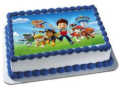Paw Patrol Edible Cake Topper Premium frosting by Trendytreathouse