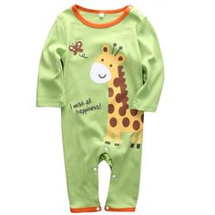 9707a1bc0a7 Happy Baby Elephant or Giraffe Rompers. Baby   Toddler ClothingCute ...