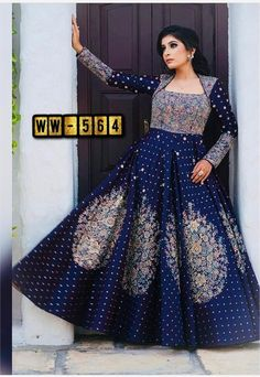 Order #WW564 Taffeta SILK with Embroidery work Gown₹1590 on WhatsApp number +919619659727 or ArtistryC.in