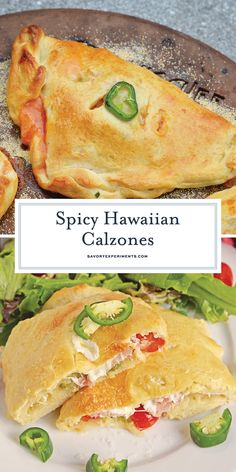 Spicy Hawaiian Calzones - A Delicious Hawaiian Pizza - Spicy Hawaiian Calzones have become a family favorite. This is a easy calzone recipe just like your favorite Hawaiian Pizza using pineapple, ham & jalapeño. Entree Recipes, Pizza Recipes, Appetizer Recipes, Dinner Recipes, Cooking Recipes, Drink Recipes, Dinner Ideas, Chicken Calzone, Calzone Recipe
