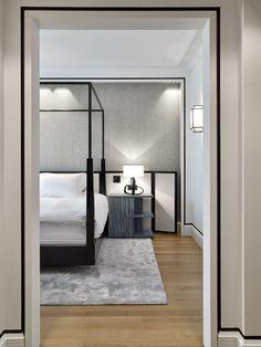 Apartment in paris Modern Luxury, Modern Interior, Interior Design, Classic Interior, Bedroom Floor Plans, Classic House, Bathroom Interior, Master Bedroom, Christian Liaigre