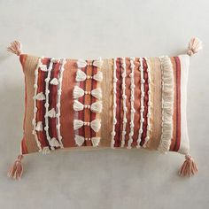 Patterned Pillows: Decorative & Throw Pillows With intensive tassels and fringe elements, our Harvest Textured Lumbar Pillow is knotty by nature. But since its shell . Boho Pillows, Diy Pillows, Accent Pillows, Decorative Throw Pillows, Cushions, Pillow Ideas, Diy Inspiration, Soft Furnishings, Lumbar Pillow