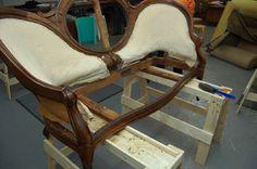 Step by step reupholstering sofa