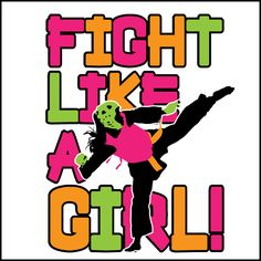 Fight Like Girl!-Taekwondo Tshirts -SUPER COLORFUL TEE! -YGLS