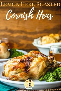 Lemon Herb Roasted Cornish Hens Are The Perfect Main Dish For A Christmas Dinner For Two. Bit by bit Instructions Included For Seasoning, Trussing And Roasting This Simple Recipe. Via Ijustmakesandwi Walnut Chicken Recipe, Best Chicken Recipes, Turkey Recipes, Crockpot Recipes, Roasted Cornish Hen, Cornish Hen Recipe, Cornish Hens, Easy Dinner Recipes, Great Recipes