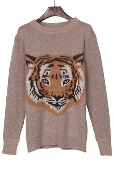 Tiger Knit Sweater
