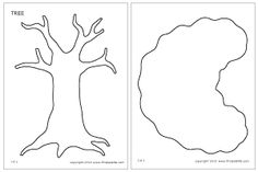 Tree template 1 You will find MANY templates on this website to download and print. templates for use in kids' crafts, Bible crafts... or just to color. This tree could be used as the tree in the Garden of Eden, The Tree of Life, The Good Tree vs. Bad Tree (Bearing Fruit)... So many ideas