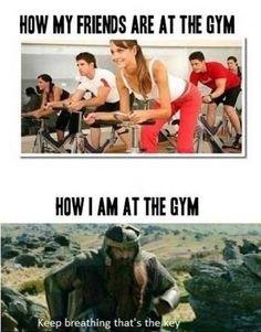 LOTR meet Gym. Hahahaha sooo me!