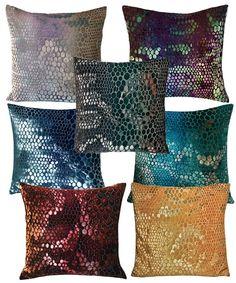 Snakeskin Velvet Pillow